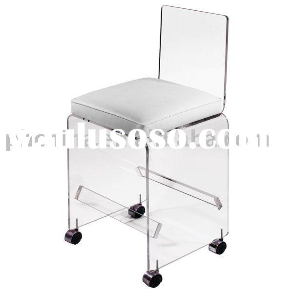 Clear Acrylic Bar Stool on wheels;Clear Acrylic Bar Chair;Clear Acrylic Desk Chair;Clear Acrylic Off
