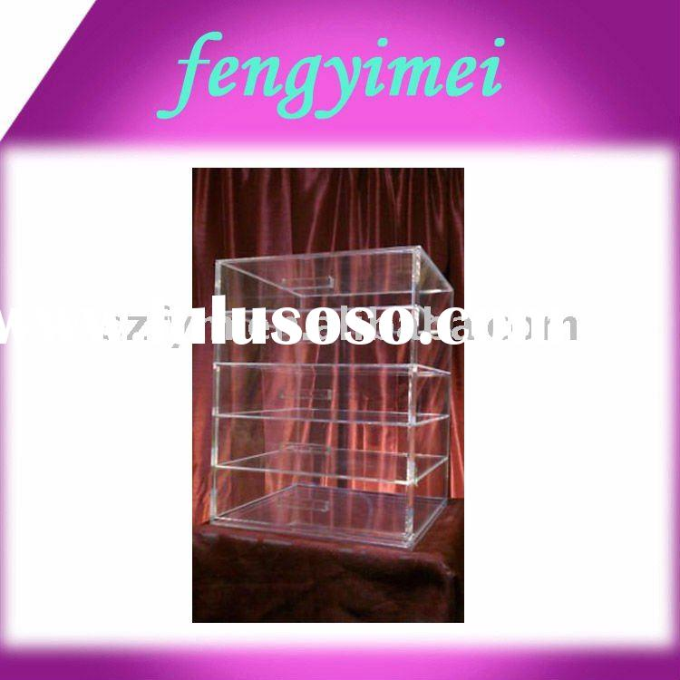 Clear acrylic display box/perspex display case/plexiglass display stand