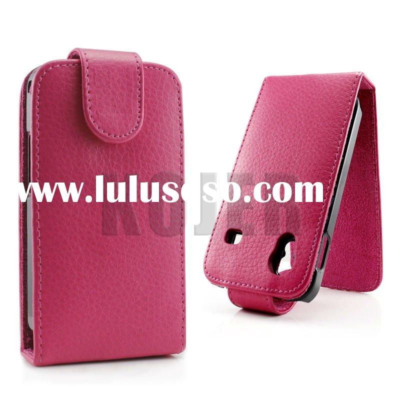 Leather Flip Mobile Phone Case for Samsung Galaxy Ace (S5830)