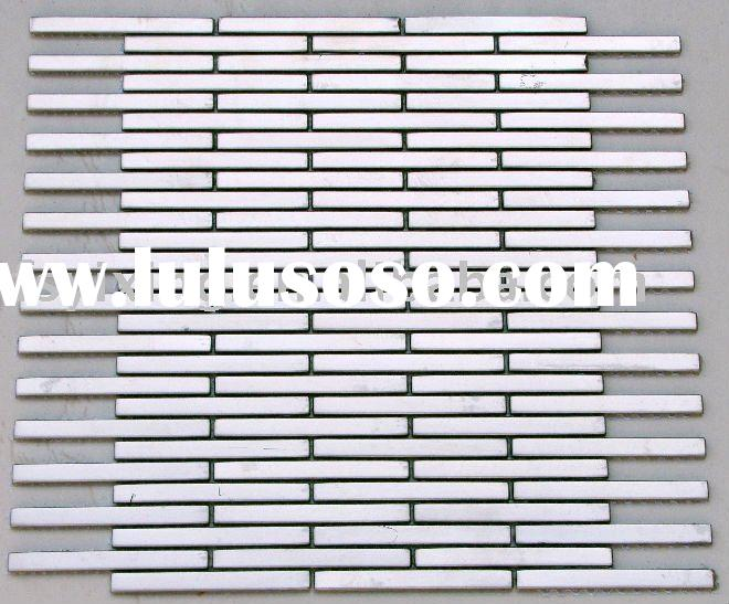 MI11 silver Mini Brick Uniform Brick Stainless Steel Brushed Metal Mosaic Tile for wall and floor