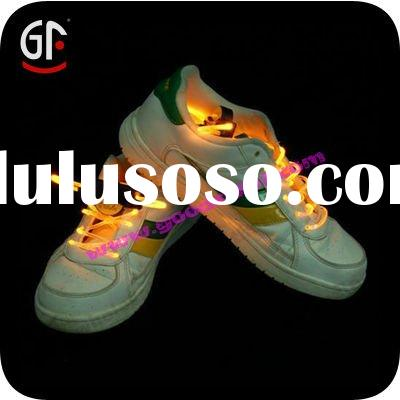 New Green LED Light UP Shoelaces Disco Flash Lite Glow Stick Dance Shoe Lace