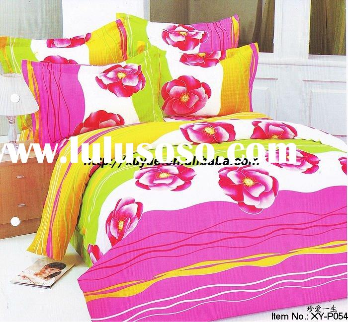 Professional Manufacturer 100% Cotton 4pcs Bedding set(pillowcase, microfiber bed sheets, fitted she