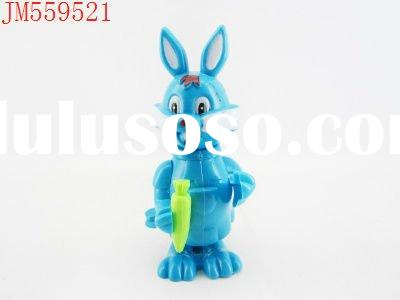 Promotional plastic wind up rabbit candy toy