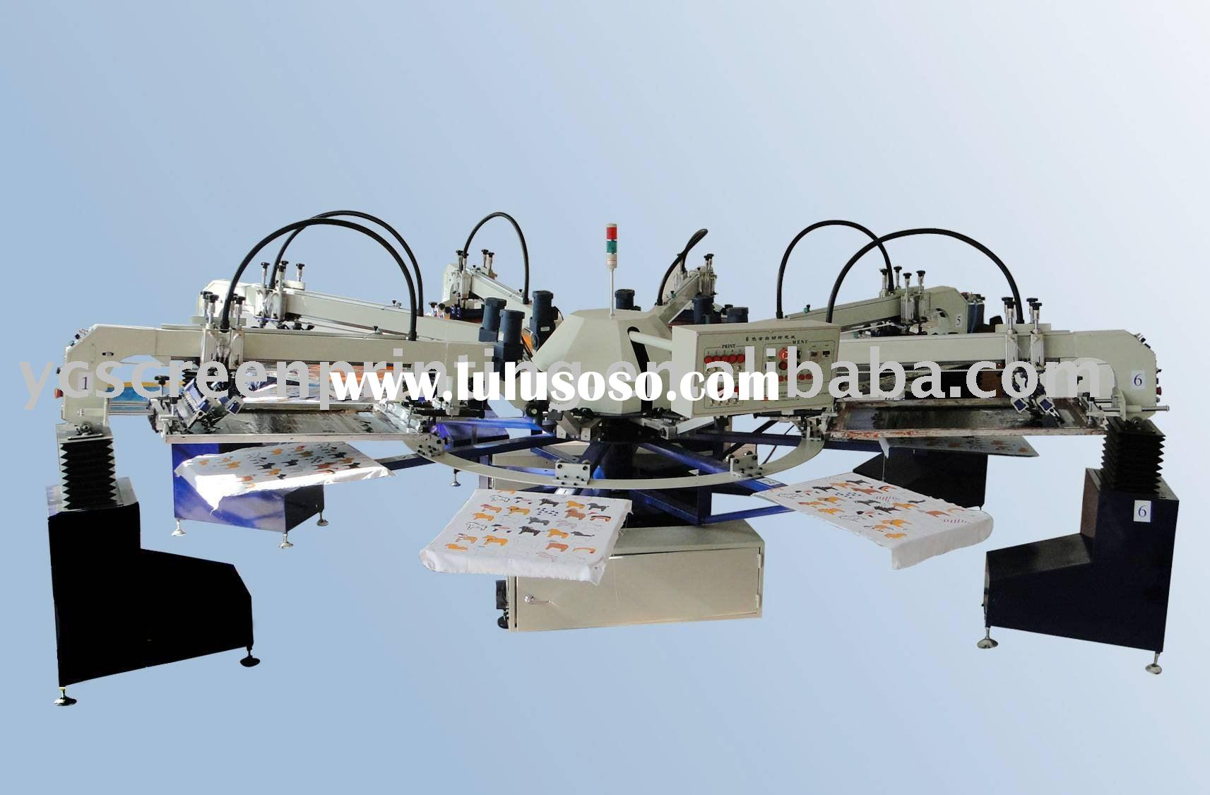 Rotary 4-color Automatic Screen Printing Machine&T-shirt screen printing machine