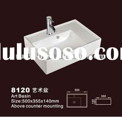 Sanitary ware ceramic sink with faucet (Russell 8120)