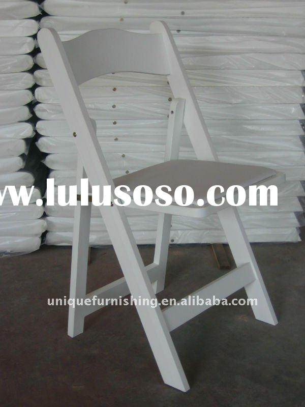 Wholesale Party White Wood Folding Chair