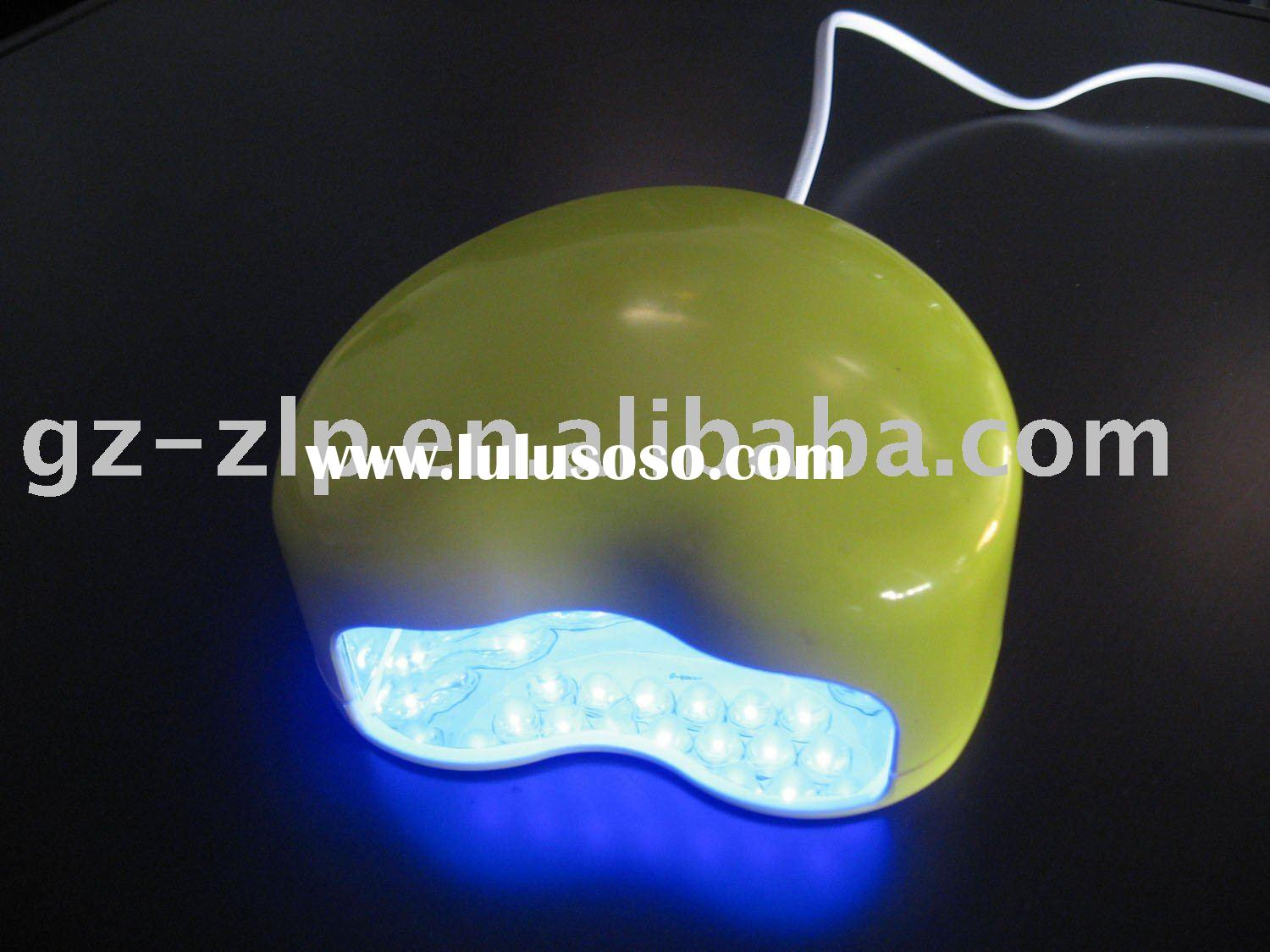 Yellow 2W Nail LED lamp&2watt LED nail art lamp & nail curing dryer & CE& 1 year war