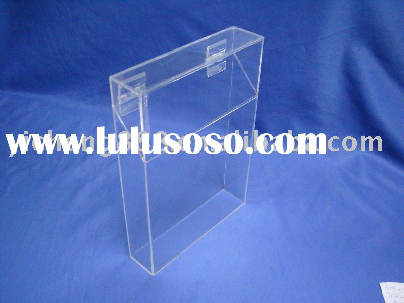 clear acrylic hinge storage box
