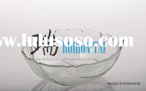 hot selling clear shell shaped bowls