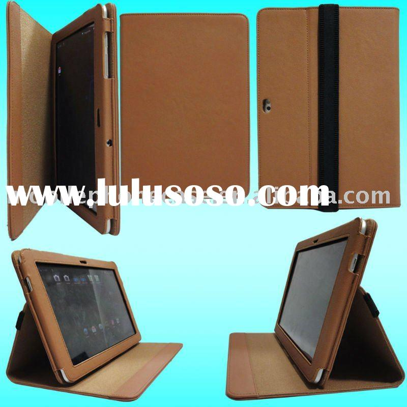 latest arrival leather case for samsung P7510