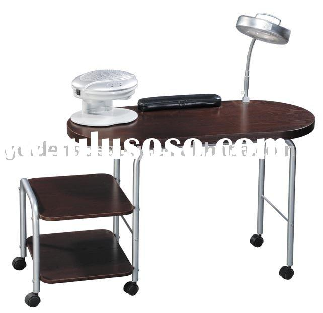 Portable nail manicure table of salon furniture for sale for Nail table and chairs