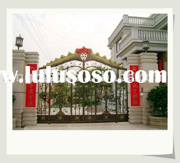 newest modern wrought iron gate and fence design(I-G-0033)