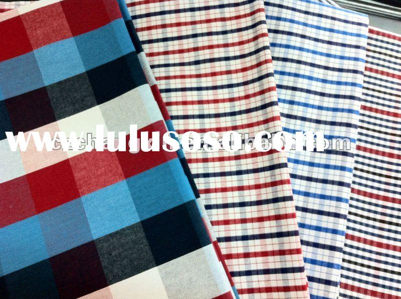 100% cotton yarn dyed fabric for shirt