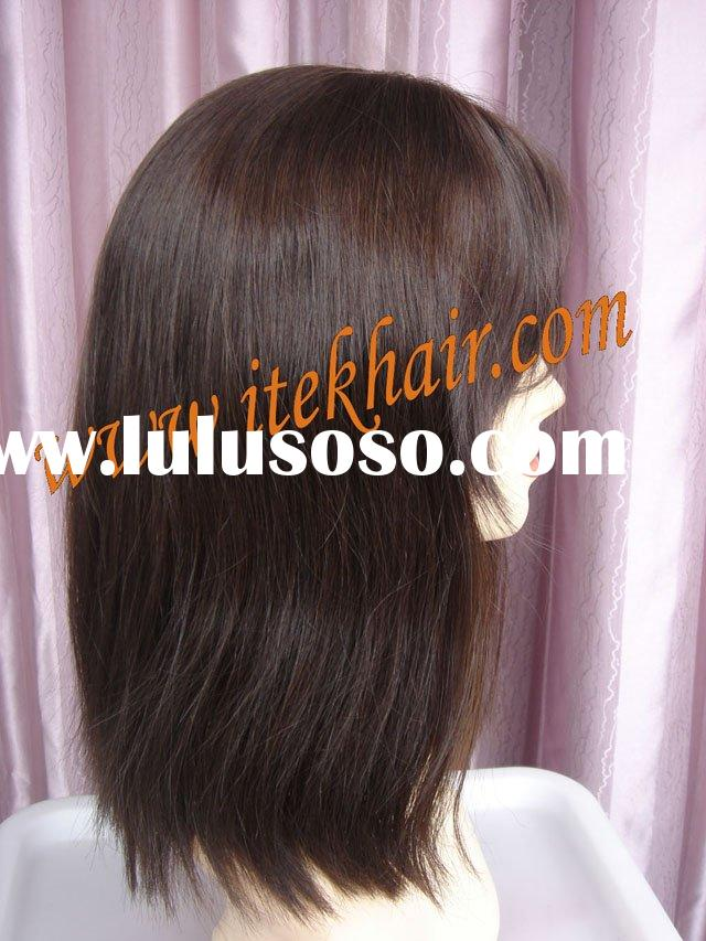 """12"""" Jewish Wig/kosher Wig;silk Top/french Top/skin Top Full Lace Wigs,accept Paypal"""