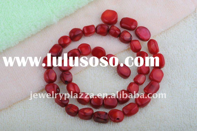 2011 fashion old red coral necklace