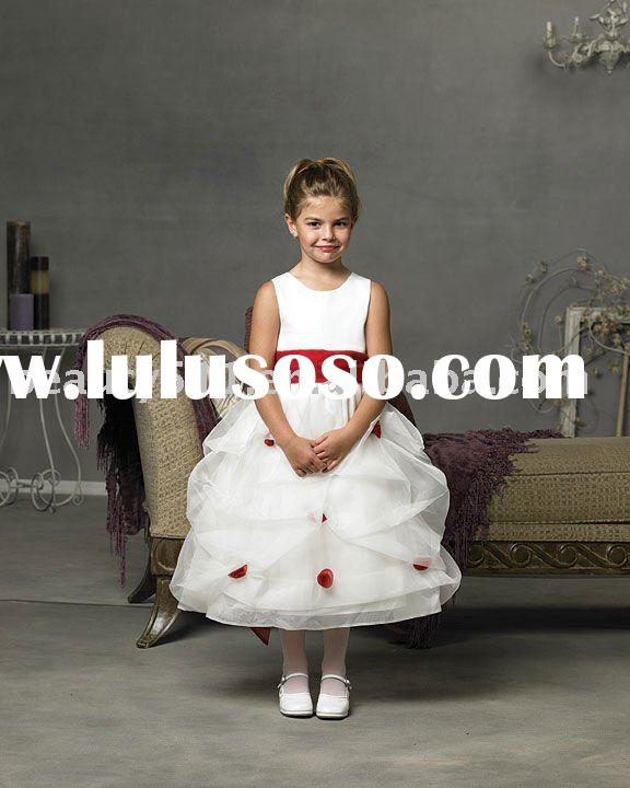 2011 latest style best sell unique design ball gown flower children dress