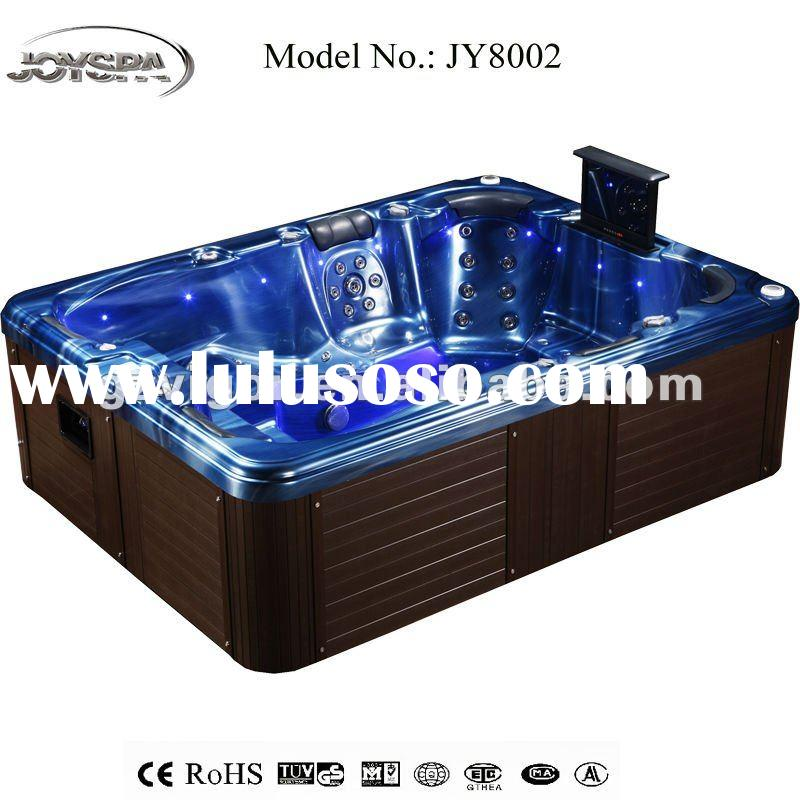 2012 LATEST high quality 8 person outdoor spa pool with waterproof TV