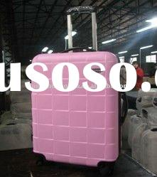 2012 fashion ABS trolley wheeled luggage case/trolley suiitcase