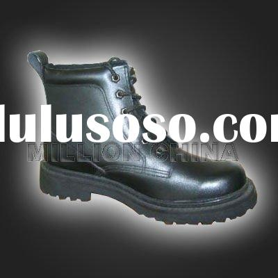 2012 hot Cow leather Black safety shoes for men