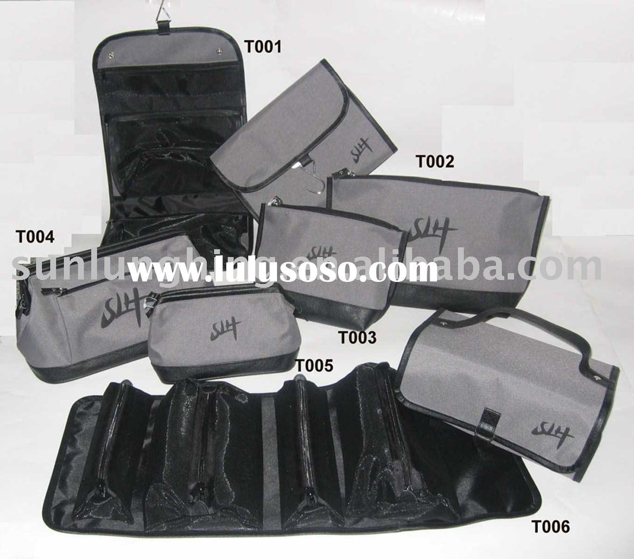 2012 latest made fashion black men cosmetic bag Gery Collection