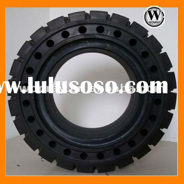28*9-15 rubber forklift solid tires with holes for sale