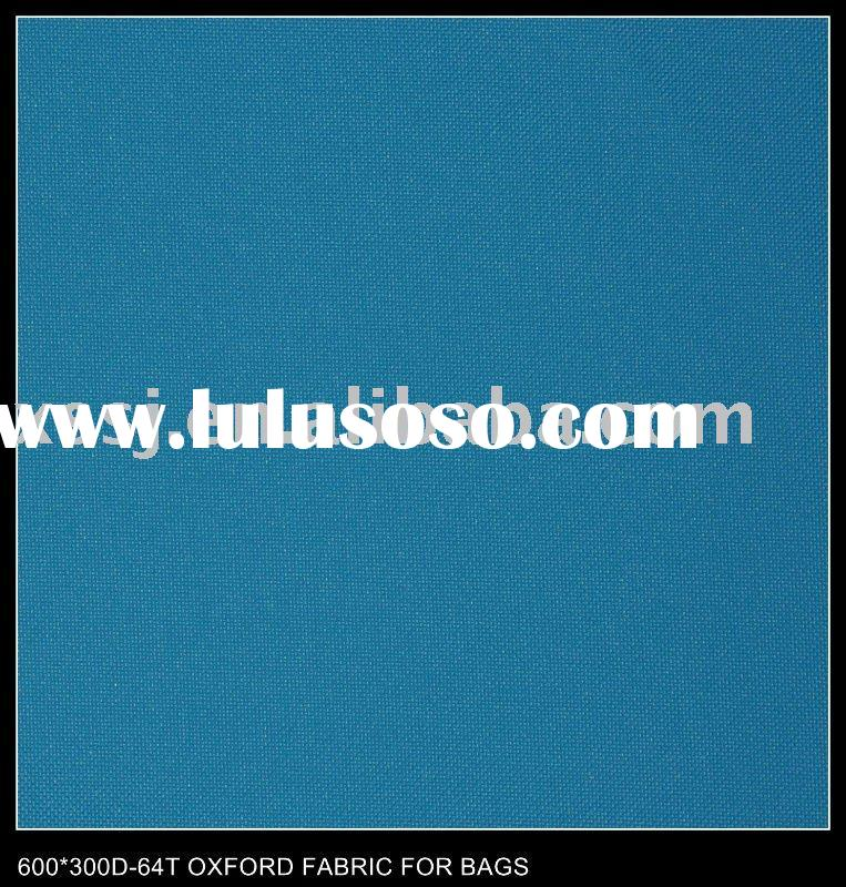 600*300D-64T OXFORD PVC FABRIC FOR BAGS