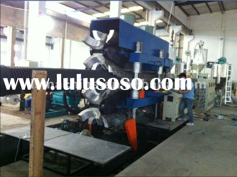 600mm HDPE double wall corrugated pipe making machine