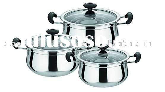 6 pcs stainless steel casserole
