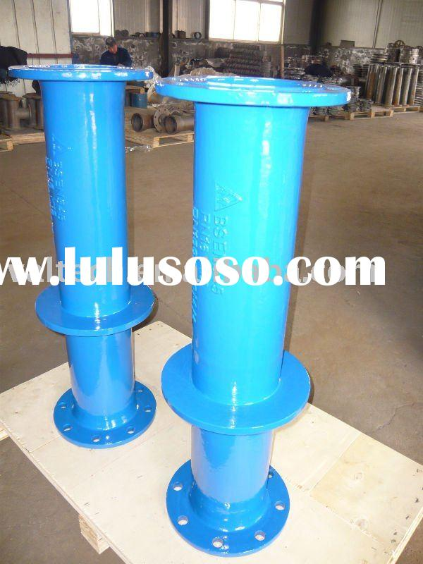 Ductile Iron double flange pipe with puddle