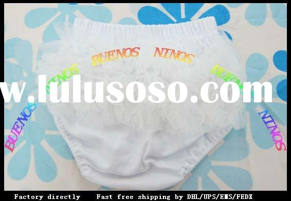Free Shipping Baby girls Chiffon ruffles bloomers,baby clothing , diaper cover ,Baby girl's