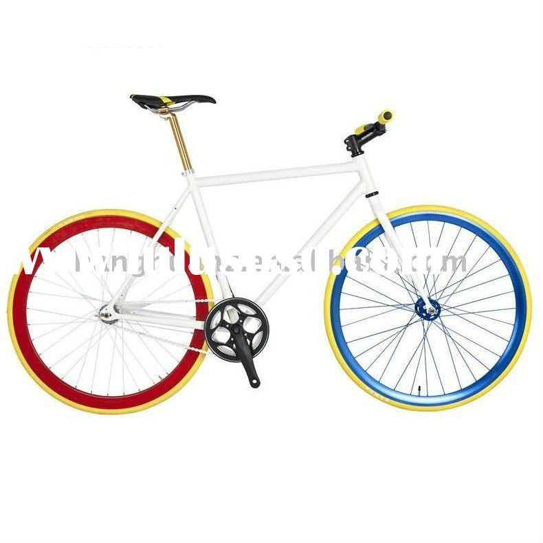 HH-FG1160 Hot sale FIxed gear bike with colorful rim