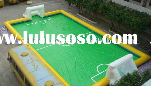 Hot selling Inflatable football field / inflatable soap soccer field