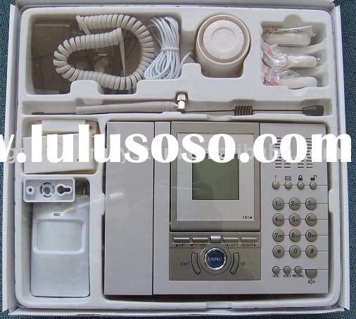 LCD GSM home alarm system wireless,S3524A