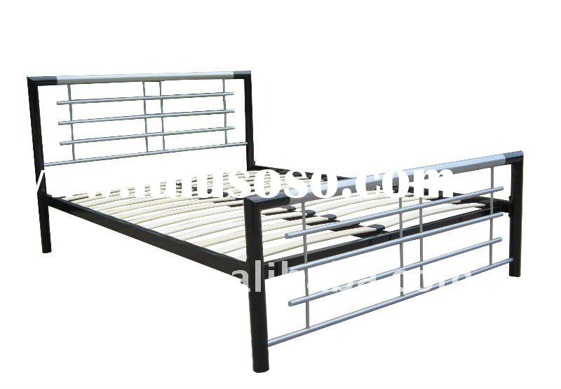 Reinforced Steel Bed Frame With Bamboo Slats For Sale