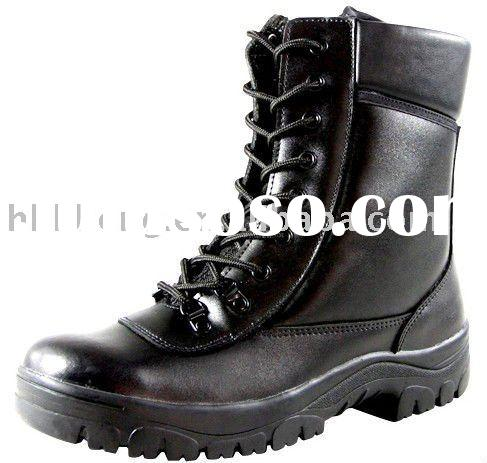 Miliatry Army Police Security force leather combat boots