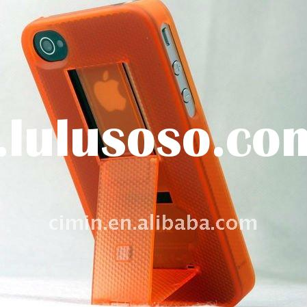 Mobile phone accessories stand case for iphone 4