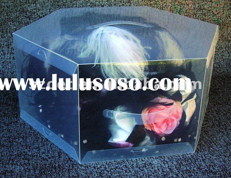 Acrylic Hat Boxes : Clear plastic hat box made of echo friendly pp material