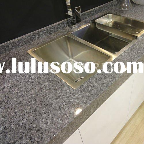Polished Quartz Stone Kitchen Cabinet Table Top