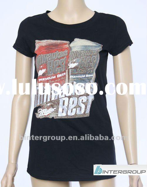 Promotional t-shirts with print, Plain cotton t-shirt for advertising,