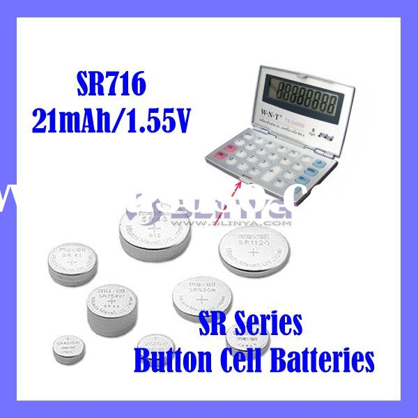 Watch Battery Alkaline Cell SR716 SR Series