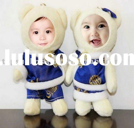 couple 3d photo face doll for wedding/party/birthday
