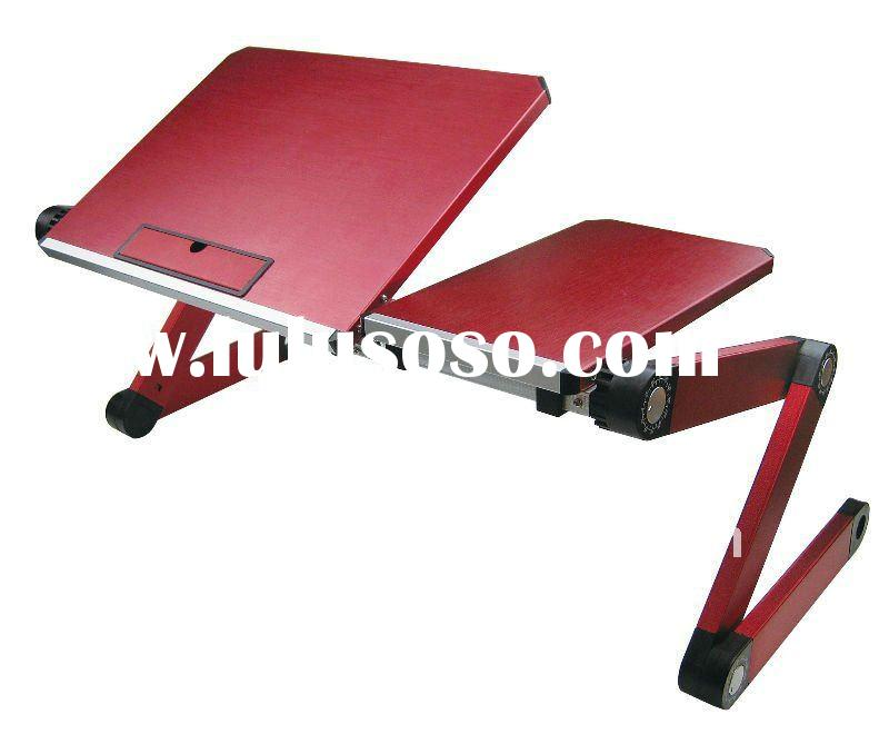 high qulity red and portable folding laptop table