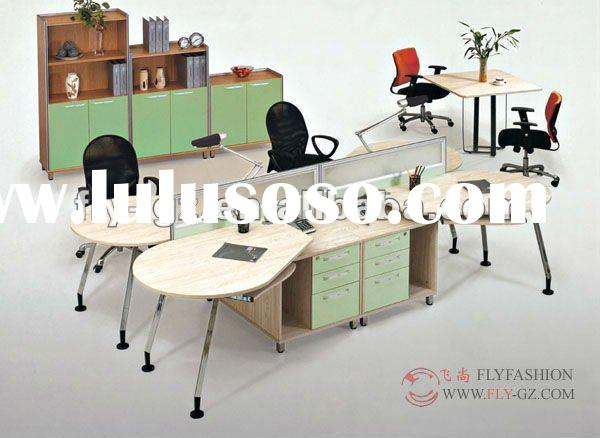 modern office table photos/4 peoples desks,writing table/MDF board workstation