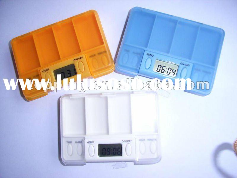 pill box with timer, pill box timer, pill box alarm timer