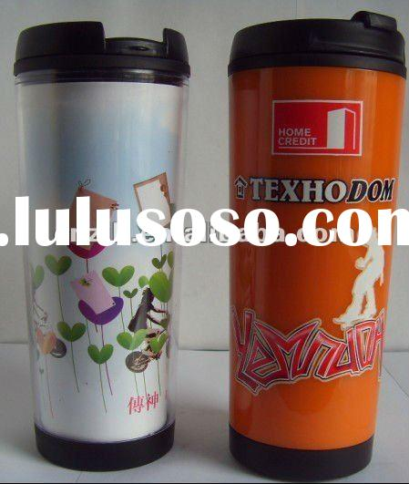 promotion thermos mug with insert full color printing paper