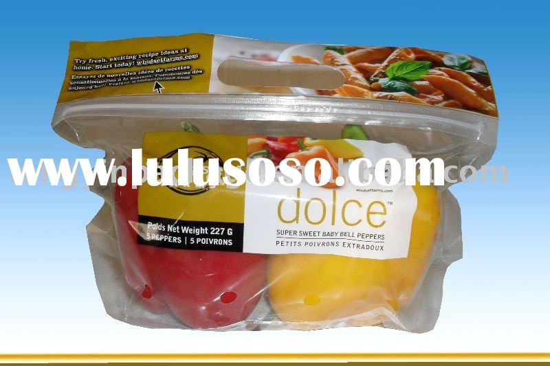 reclosable vegetables plastic bags/fresh vegetable packaging bag/zipper vegetable bags
