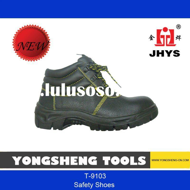 100% leather steel toe safety work shoe