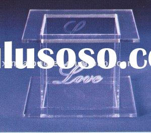 10 /12 inch acrylic square cake stands with your logo