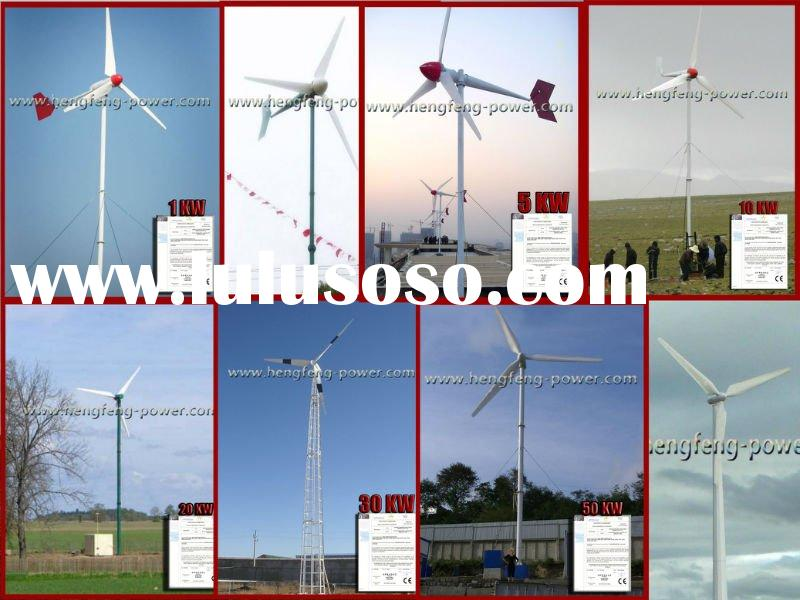 1KW-100KW wind turbine,wind generator,wind mill,wind power system with guy cable tower or free stand
