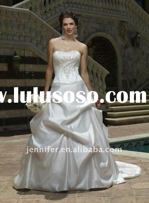 2011 Hotsale custom made reasonable price simple Wedding Dress ( hs319)